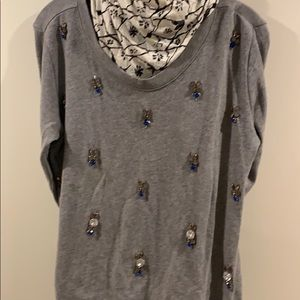 Jessica Simpson jeweled sweater